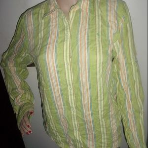 Ralph Lauren lime green polo button up long sleeve